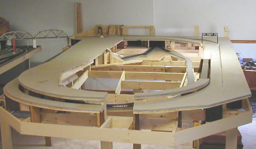 Track plywood and homasote